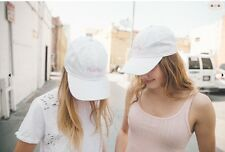 brandy melville White Katherine Peachy  baseball cap NWT Adjustable OS free gift
