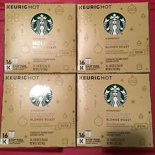 NEW 64-Ct K Cup Pods Starbucks 2016 Holiday Blonde Roast