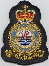 The Dambusters 617 Squadron RAF Royal Air Force Crest Badge Patch MOD Approved
