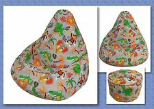 BEAN BAG Sewing Pattern with FREE BONUS Foot Stool Cushion Pattern ~ Very comfy