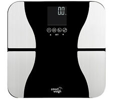 Smart Weigh 440lbs Fitness Body Weight BMI Digital Bathroom Scale Tempered Glass