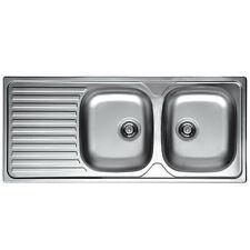 Lavello Lavandino Cucina Inox da incasso cm 116 x 50 ala Sx