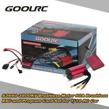 GoolRC S3660 3800KV Motor +60A ESC +Program Card Combo Set for 1/10 RC Car M2O3