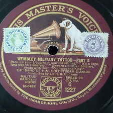 "78rpm 12"" COLDSTREAM GUARDS wembley military tattoo parts 3 & 4 c1227"
