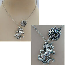Silver Unicorn Pendant Necklace Jewelry Handmade NEW Chain Adjustable Fashion