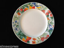 "Lynns Fine China WATERBERRY Blue Bird & Fruit Pattern 8"" LUNCHEON / SALAD PLATE"