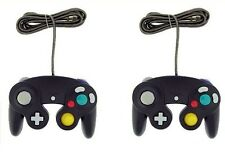 2x Black wired Joystick CLASSIC CONTROLLER Gamepad For NINTENDO GAMECUBE & Wii