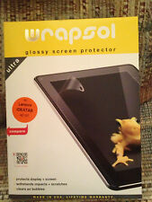 Wrapsol Glossy Screen Protector Lenovo IDEATAB A2 107 Tablet NEW SEALED