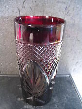 Arcoroc? RUBY RED TUMBLER or ICED TEA GLASS   6""