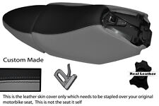 BLACK & GREY CUSTOM FITS YAMAHA XQ 125 MAXSTER  REAL SEATS COVERS