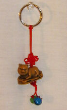 NEW CHINESE ZODIAC LUCKY PIG PIGLET ON COINS KEY RING CELL PHONE ACCESSORY OINK
