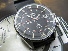 RARE Vintage Orient SK KD King Diver Automatic Black Dial 2 Windows.