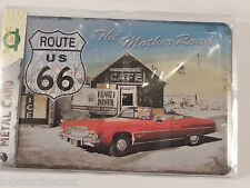 ROUTE 66 The Mother Road - Metal Card Tin Sign by Nostalgic Art