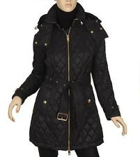 NEW BURBERRY BELLBRIDGE CURRENT DIAMOND QUILTED SHOWER-RESISTENT PARKA COAT S