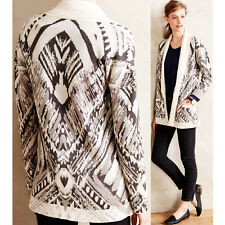 CYNTHIA VINCENT Aviani Cardigan Sweater Open Anthropologie Tunic Cat Wrap Jacket