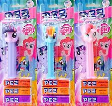 MY LITTLE PONY PEZ SET OF 3 TWILIGHT PINKIE RAINBOW  #sdec15-251b