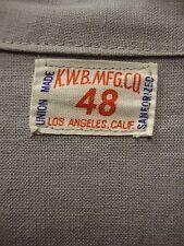 VINTAGE 30's 40's BELTED BACK SHOP COAT CHORE JACKET