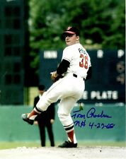 Autographed TOM PHOEBUS Baltimore Orioles  8x10 photo- COA