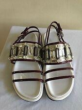 MARNI Crystal Embellished Slingback Sandals Shoes 39/9