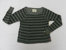 Billabong Women Medium Sweater Boat neck Green Stripes