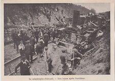 1905  --  LA CATASTROPHE D ARCUEIL UNE HEURE APRES L ACCIDENT   3H903