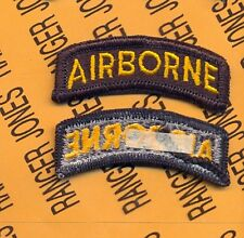 US ARMY AIRBORNE TAB Black & Gold patch m/e