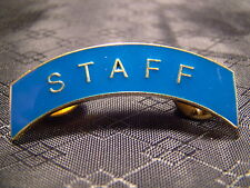 Staff Arch Pin Arc Tab Junior ROTC, JROTC, New Old Stock Gold Blue