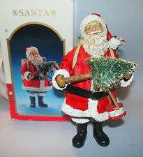 W1524 Kurt Adler Fabric Mache Traditional Santa Figure Santa's World Taiwan 10