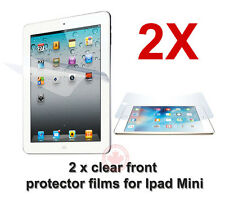 2x Two pieces of clear front screen protector flims for Apple iPad mini