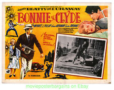 BONNIE AND CLYDE Lobby Card Size 12.5x17 Inch Movie Poster WARREN BEATTY Card #2