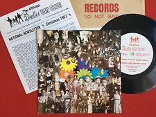 THE BEATLES -Fifth Christmas Record- Rare 1967 Fan Club Flexi Disc +Insert
