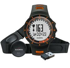 Suunto Quest HR Orange Watch with Dual Comfort Belt and Movestick Mini
