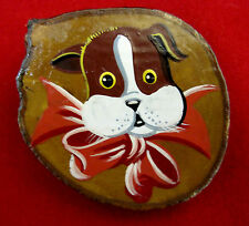 Puppy Pin Brooch Dog Hand Painted on Wood Dog Show