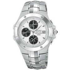 SEIKO COUTURA SPORT CHRONOGRAPH ALARM DATE DIAL ST.STEEL MEN'S WATCH SNAE55 NEW