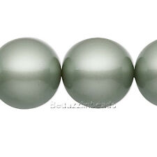 Lot of 10 Powder Green 8mm Round Swarovski Crystal Loose Pearl Beads (5810)