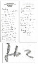 Ike to Wife in a Love Letter Signed: ''You're the tops''