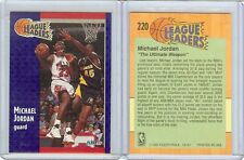 MICHAEL JORDAN 1991-92 FLEER #220, LEAGUE LEADERS MVP, HOF, ALWAYS FREE SHIPPING