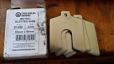 5x in box Precision Brand Stainless steel slotted shims 50x50mm size 2mm Metric