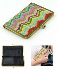 New Ladies Women Large Vintage Traditional Clasp Coin Clutch Bifold Purse Wallet