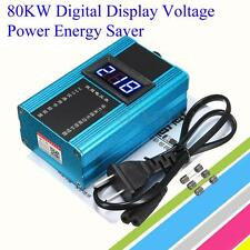 80KW Electricity Energy Saver Box Save 30% Power Household Digital Voltage Meter