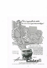 PUBLICITE ADVERTISING  1952   CALOR    ventilateur AERATOR