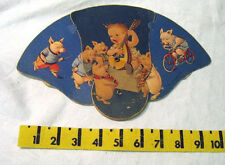 pigs singing  baby plays guitar/  childs folding fan advertising /  muncie ind