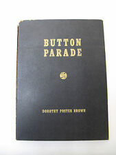 Button Parade Illus. Clothing Decoration Fashion Uniform History Collecting 1942