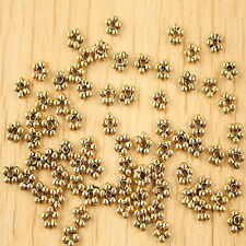 180pcs dark gold-tone daisy flower charms Finding h1330