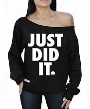 Just Did It Off the shoulder oversized slouchy sweater sweatshirt