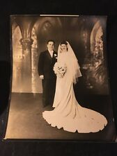 VTG Portrait Photograph Buffalo NY #3 WEDDING COUPLE FORMAL GROOM BRIDE H. Mazur