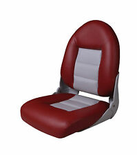 PREMIUM LUXURY CRUISESTYLE FOLDING HIGH BACK BOAT MARINE SEAT RED & GREY 75115