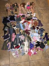 Huge Lot of Assorted Bratz Dolls Lots Of  Clothing, Accessories Some Shoes