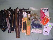 Lot of 50 Asst. Metal Tooth Zippers, Zipper Repair Parts, Pulls, Etc.