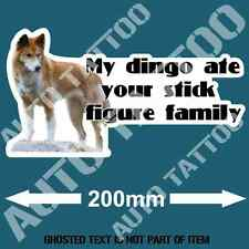 MY DINGO ATE STICK FAMILY DECAL STICKER FUNNY NOVELTY BUMPER STICKERS CAR TRUCK